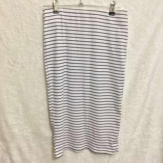 Forever 21 Stripe Pencil Skirt