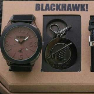 Jam Tangan Pria Blackhawk Paket