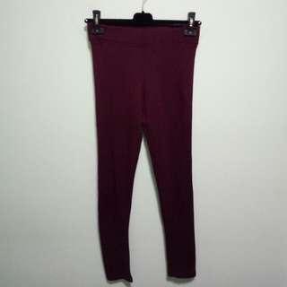 Maroon Topshop leggings
