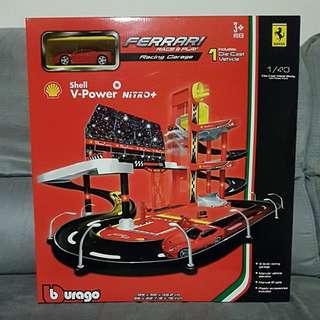 BNIP 99cm Burago Racing Garage