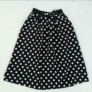 F Block Polka Dot Skirt