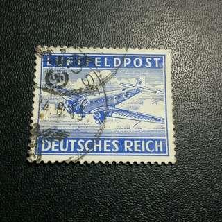 1943 德國空郵郵票軍郵印