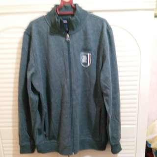 全新  男裝深灰色外套(前胸拉鍊) 衫長27.5寸  闊22寸  袖長25.5寸 中碼  size M