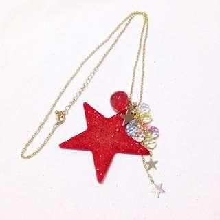 Japan Glittery Stars Necklace