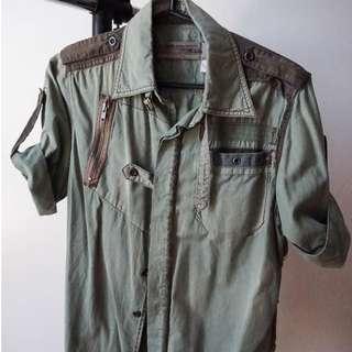 Military Green Light Jacket