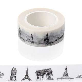 New Sketched Paris Eiffel Tower Japanese Washi Tape
