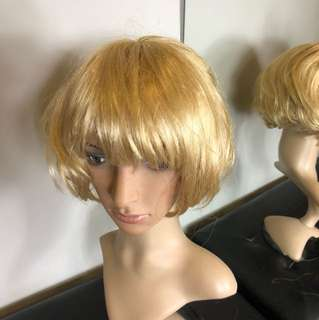 歐美金色角色扮演派對造型復古包伯假髮網紅走秀直播