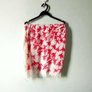 ** Bird print scarf
