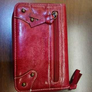 MONACA红色多格拉錬銀包