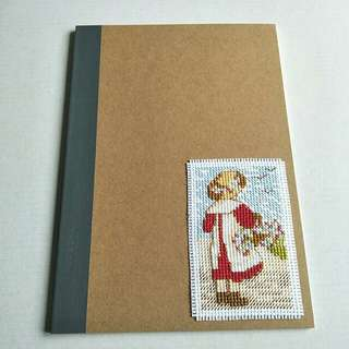 Completed Handmade Cross Stitch - AOY All Our Yesterdays, on Notebook