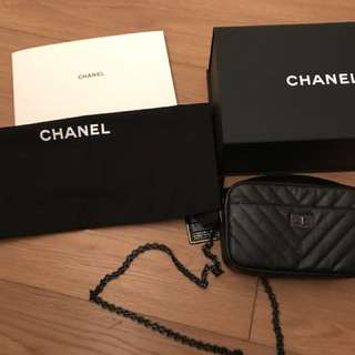 New mini so black chanel camera bag