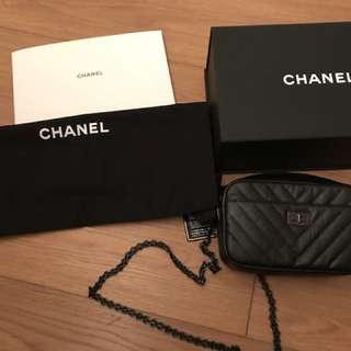New mini so black chanel camera bag
