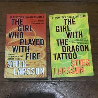 Millennium series (The Girl With The Dragon Tattoo, The Girl Who Played With Fire)