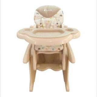 Hihg Chair 2in 1( kursi makan dan meja belajar)