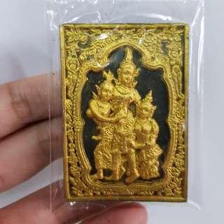 Thai amulets Petch Phrayathorn Lp Inn Wat Nhongmek , with Singha, takrut, ploy sek. Lucky love charm