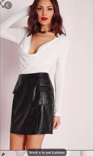 Missguided leather skirt