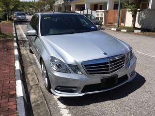 Mercedes E250 AMG SPORTS for rent