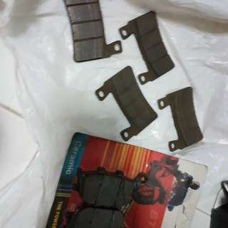 New & use brake pad
