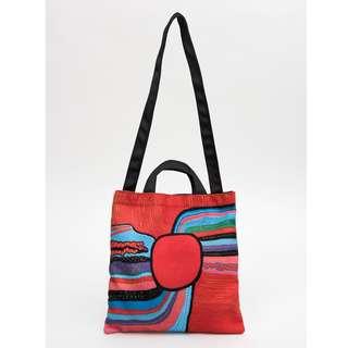 YAYOI KUSAMA Life Is The Heart Of The Rainbow Square Sling Bag