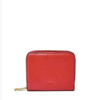 [全新] Fossil Red Wallet 紅色銀包