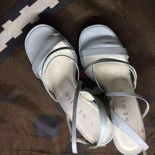 Nine West Baby Blue Heels with Platform Size 6.5
