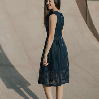 Lollyrouge Nollie Score Sheet Midi Dress