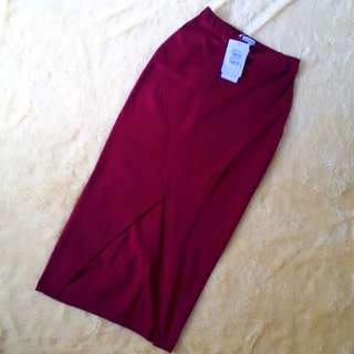 Colorbox Maroon Skirt - Rok