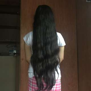 20 inches black hair