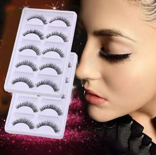 5 pairs handmade demi wispies natural false eyelashes