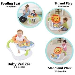 Good as new 4 in 1 multifunctional baby walker