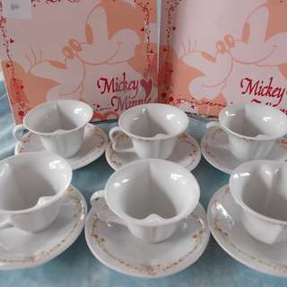 Mickey Mouse Tea Cups set