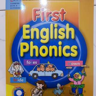 Phonics book (new) - First English Phonics * come with 2 CDs (sealed) *