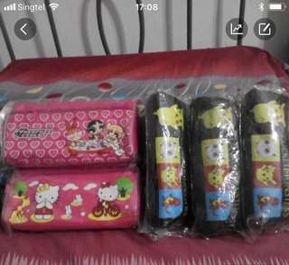 Pocketmon & hello kitty pencil case each $3.5 ,3 for $10
