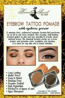 Eyebrow tattoo pomade
