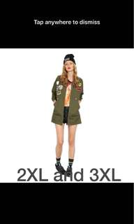 Loose Jacket Army Green and Black