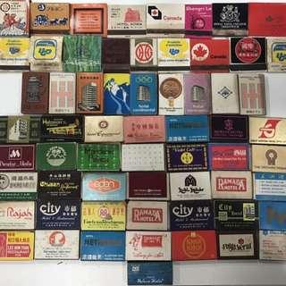 62 Vintage Match Boxes