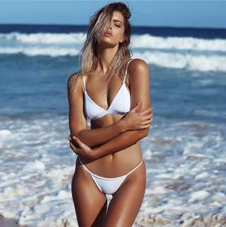 Frankie Swimwear Darling Bralette Ivory White Bikini Top