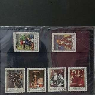 6pcs of stamp set