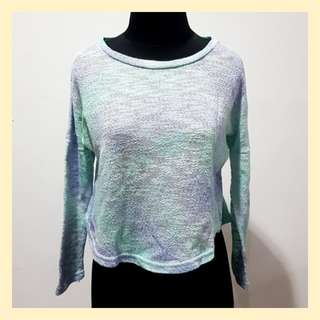 Crop Top Knit Ombre