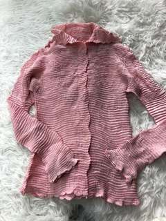 Issey miyake Pink pleated shirt Top
