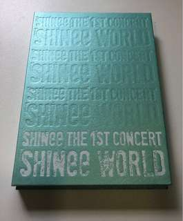 Shinee world 1st concert with 2 DVD and magazine.