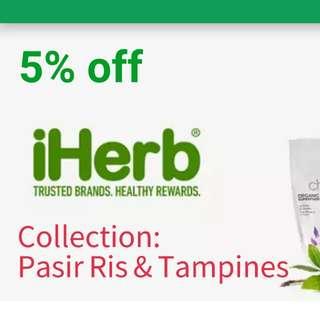 Iherb 5% off (Pasir Ris & Tampines)