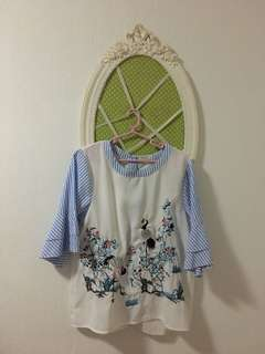 REPRICED! KOREAN EMBROIDERED TOP