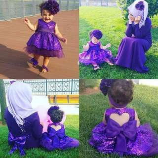 Purple Sequin Princess Dress