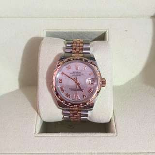 Rolex Datejust 31mm stainless steel Rose Gold White Mother of Pearl VI Roman Jubilee