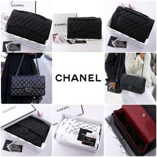 "Chanel Classic Flap ""so black"""