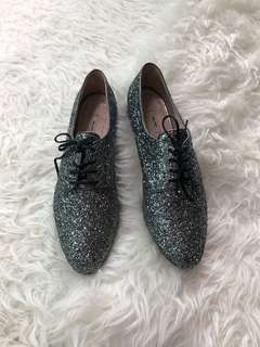 New miu miu glittered brogues 40