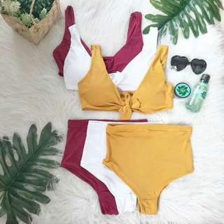 Two piece swim wear