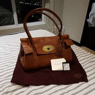 Mulberry Slim Brynmore Natural Veg Tanned- Authentic