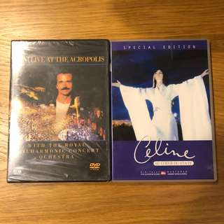 Yanni & Celine Dion live for sale